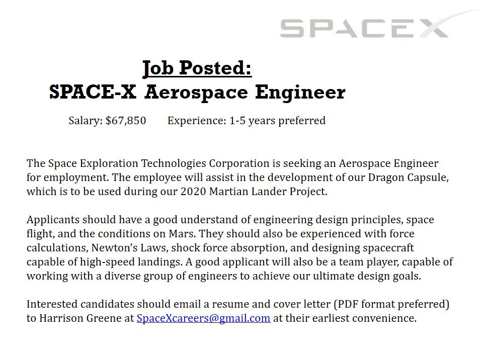 Applying for Jobs – Day 1 – www.MrAscience.com